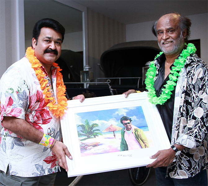 Mohanlal and Rajnikanth
