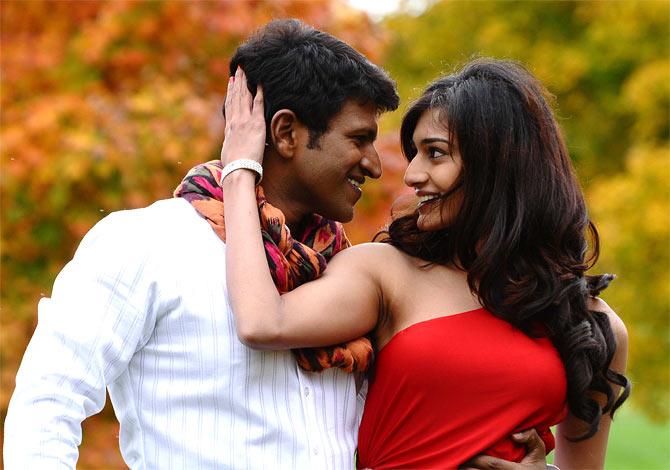 Erica Fernandes and Puneeth Rajkumar in Ninnindale
