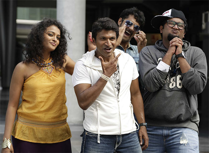 Puneeth Rajkumar in a still from Ninnindale