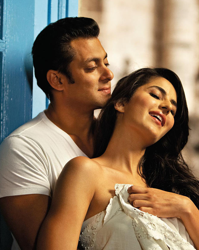 Salman Khan with Katrina Kaif in Ek Tha Tiger