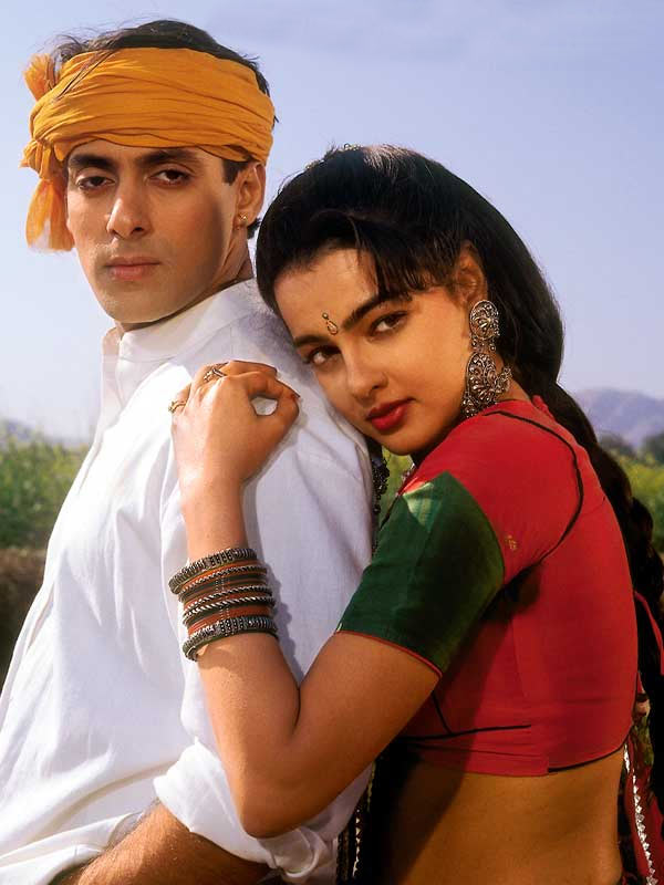 Salman Khan with mamta Kulkarni in Karan Arjun