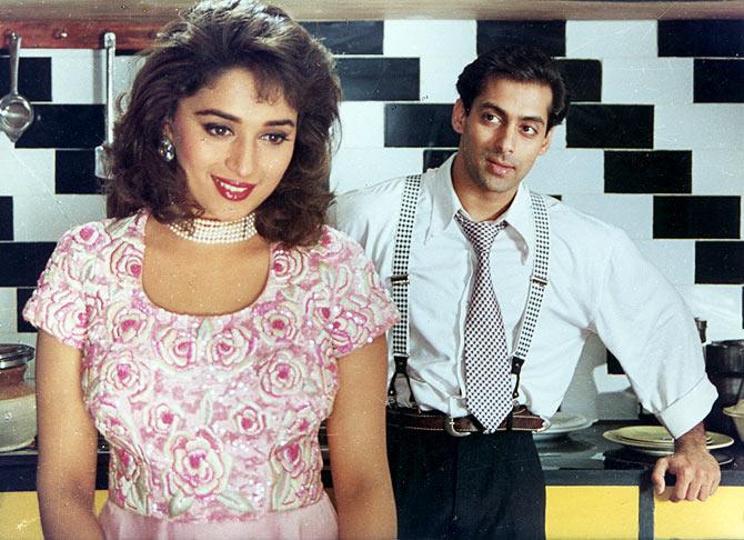 Salman Khan with Madhuri Dixit in Hum Aapke Hain Koun..!