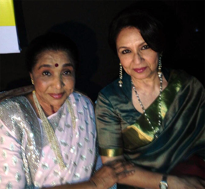 Asha Bhosle and Sharmila Tagore