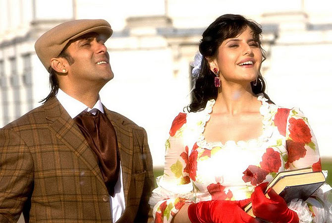 Salman and Zarine Khan in Veer