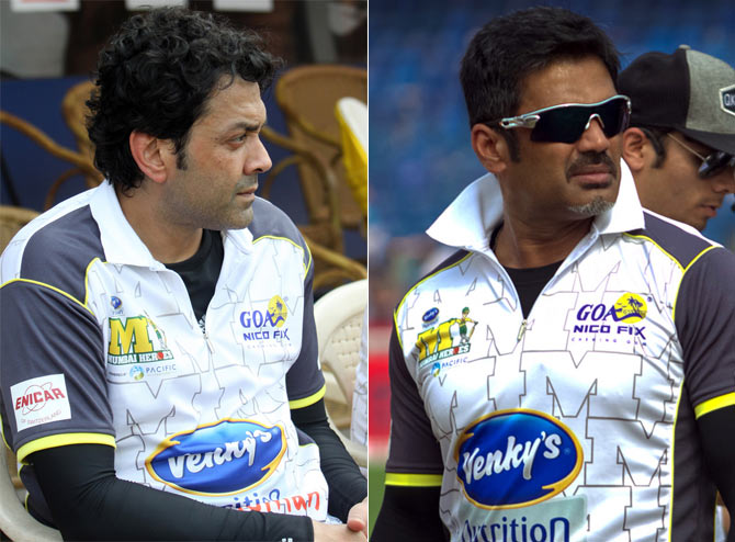 Bobby Deol and Suniel Shetty