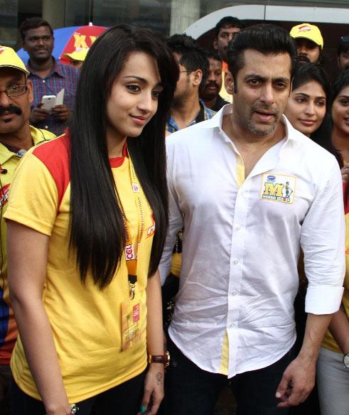 Trisha Krishnan, Salman Khan