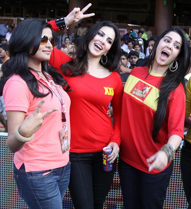 Priyamani, Sunny Leone and Charmy