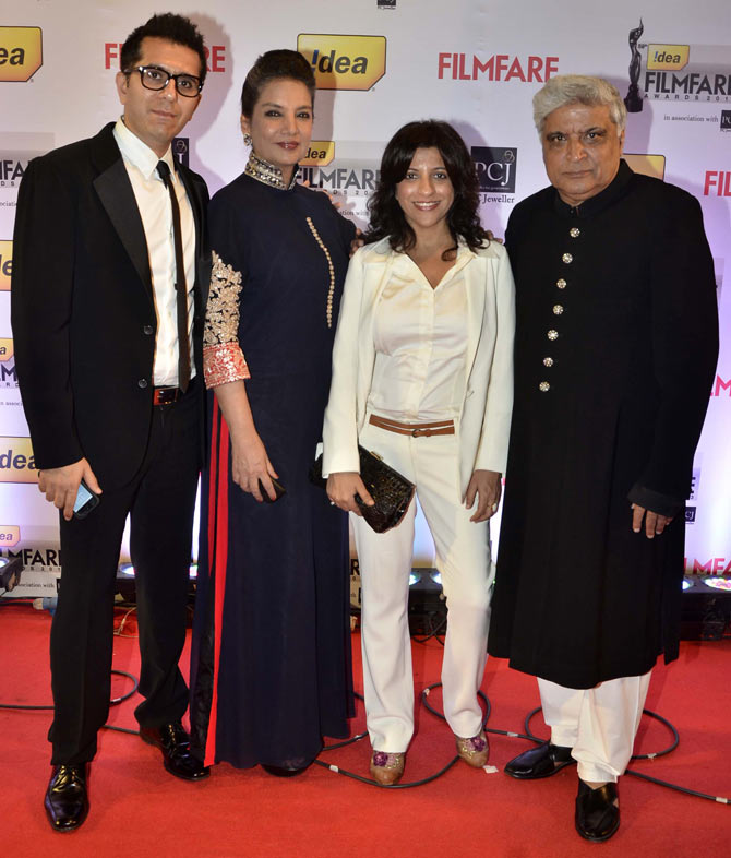 Ritesh Sidhwani, Shabana Azmi, Zoya and Javed Akhtar