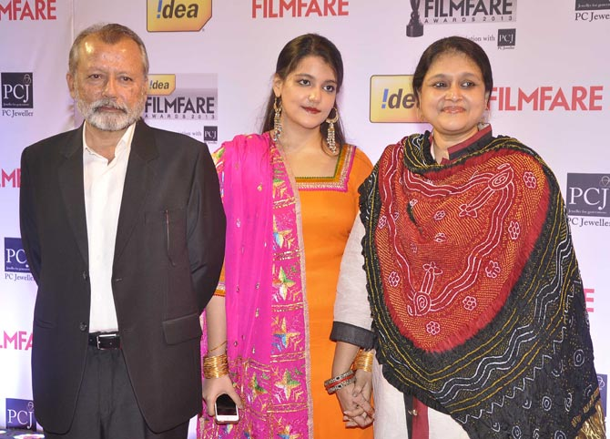 Pankaj Kapur and Supriya Pathak with daughter Sanah
