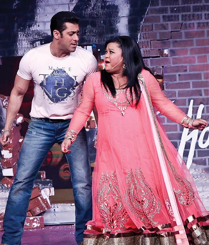 Salman Khan with Bharti Singh