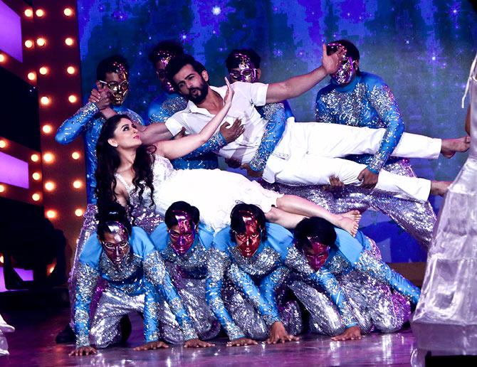 Jay Bhanushali and Mahie Vij