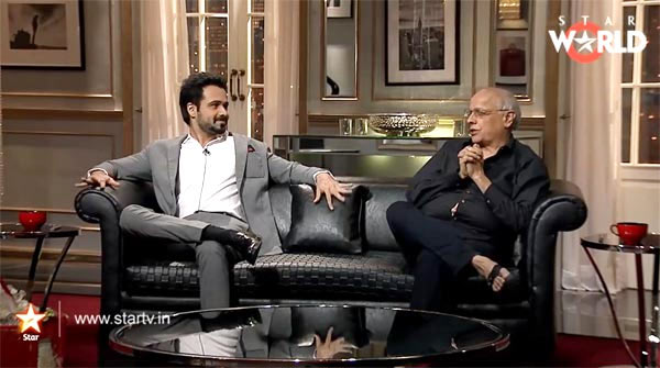 Emraan Hashmi and Mahesh Bhatt on Koffee With Karan
