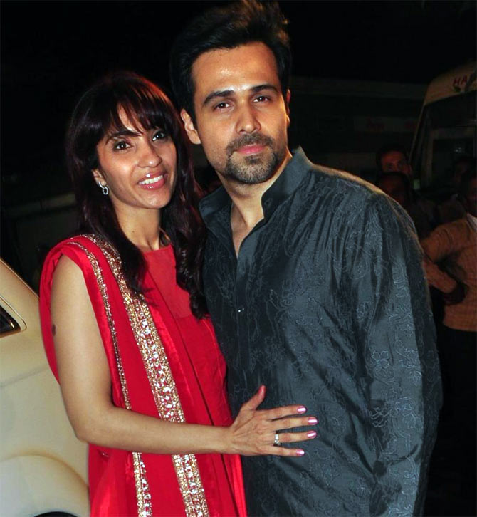 Emraan Hashmi with wife Parveen Shahani