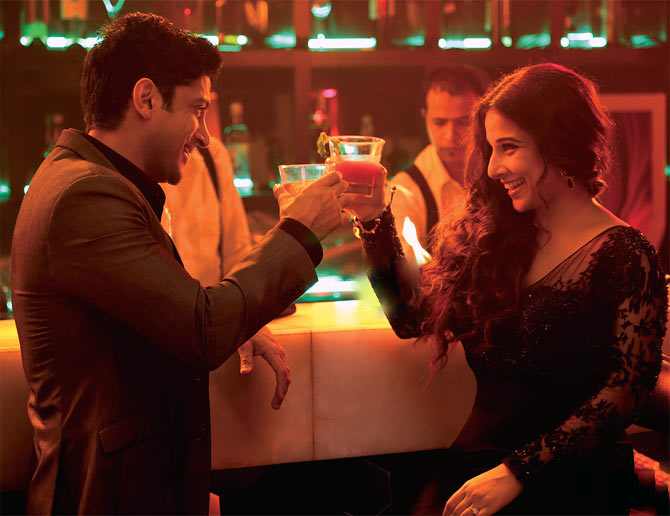 Farhan Akhtar and Vidya Balan in Shaadi Ke Side Effects