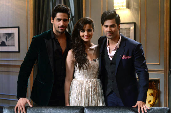 Siddharth Malhotra, Alia Bhatt and Varun Dhawan on Koffee With Karan