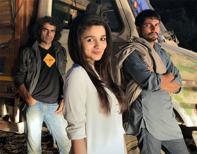 Imtiaz Ali, Alia Bhatt and Randeep Hooda in Highway