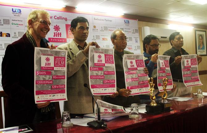 Andrew Vial, Hanu Roj, K L Jain, Prasoon Sinha and D P Agarwal at JIFF