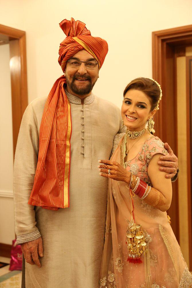 Kabir Bedi with Raageshwari Loomba