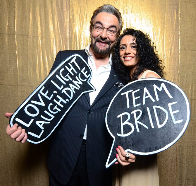 Kabir Bedi and Parveen Dusanj