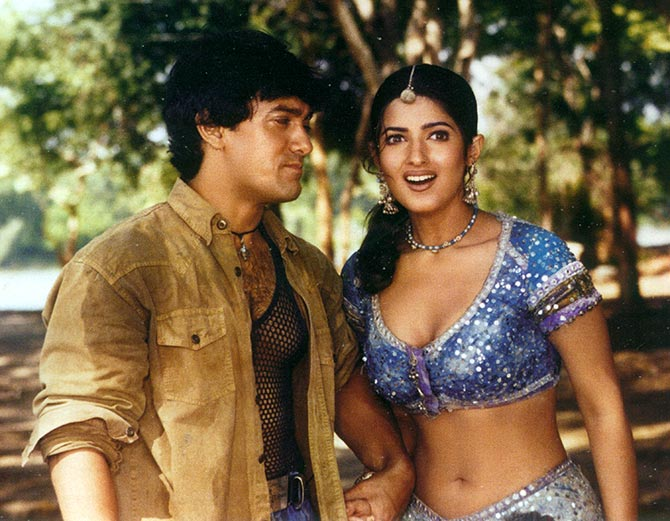 Aamir Khan and Twinkle in Mela