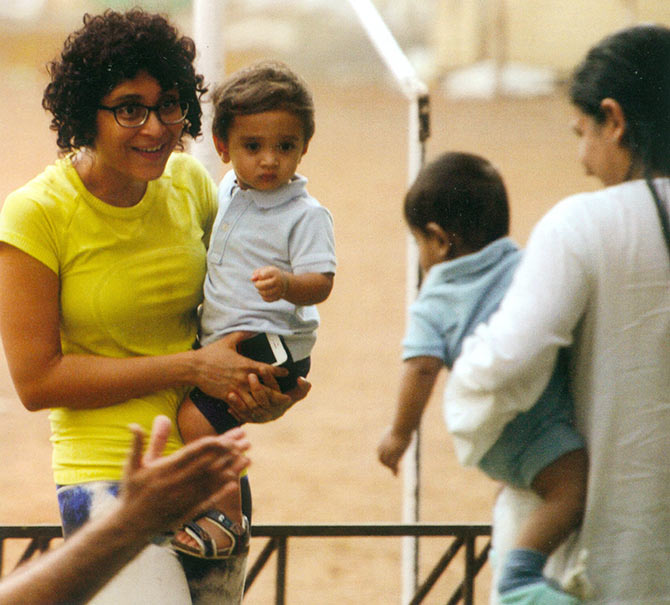 Kiran Rao with baby Azad