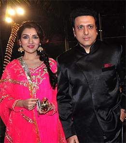 Govinda with daughter Narmada