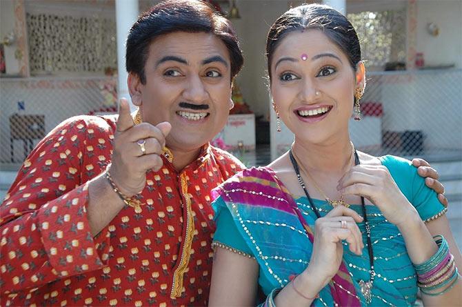 Dilip Joshi and Disha Vakani in Taarak Mehta Kaa Ooltah Chasma