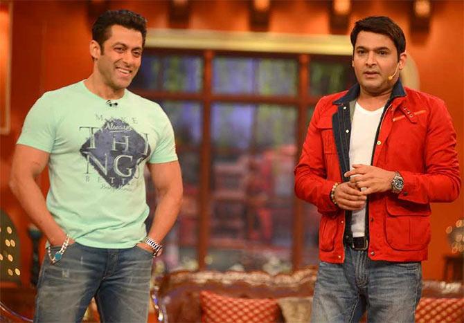 Salman Khan and Kapil Sharma in Comedy Nights With Kapil