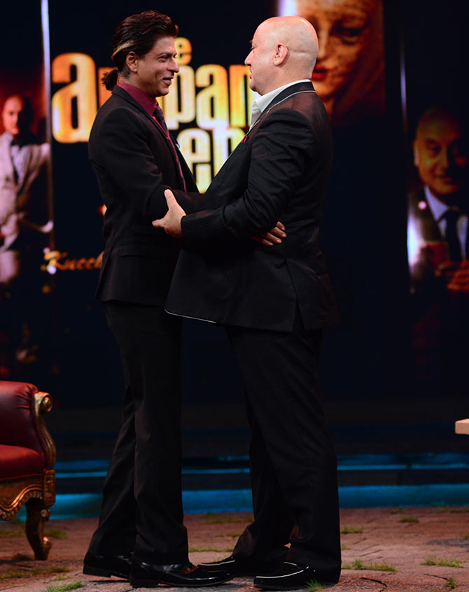 Shah Rukh Khan and Anupam Kher