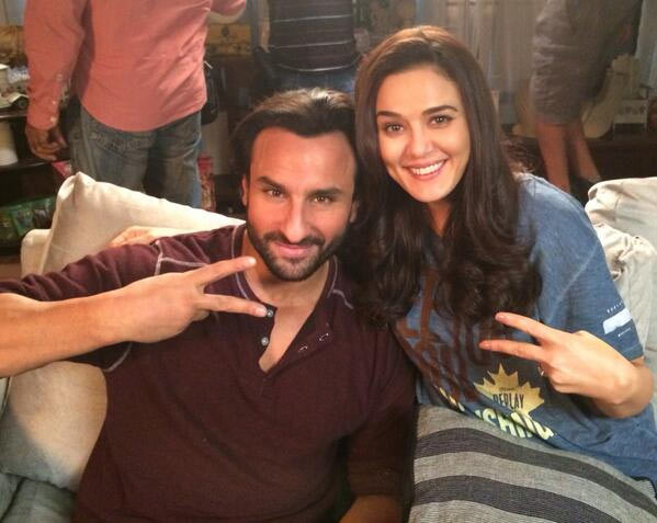 Preity Zinta with Saif Ali Khan