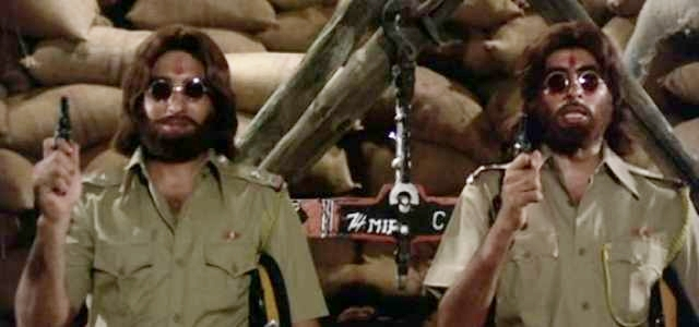 Vinod Khanna and Amitabh Bachchan in Hera Pheri