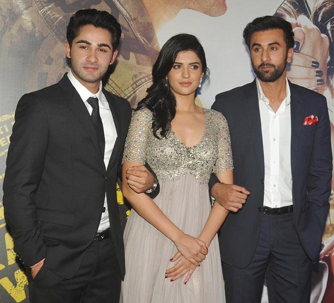 Armaan Jain, Deeksha Seth and Ranbir Kapoor