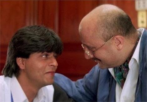 Shah Rukh Khan and Anupam Kher in Dilwale Dulhaniya Le Jayenge