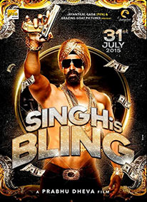 Akshay Kumar in the poster of Singh is Bling