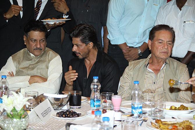 Prithviraj Chauhan, Shah Rukh Khan and Salim Khan