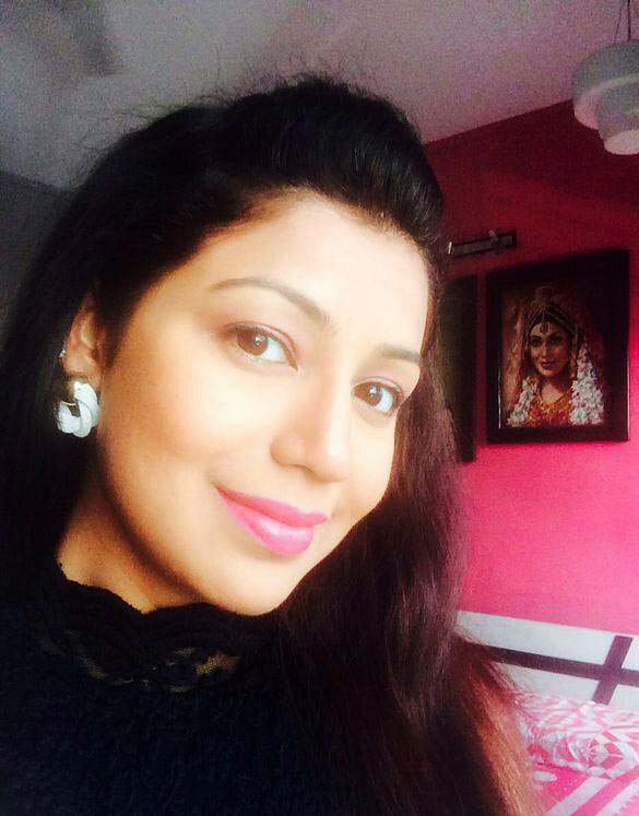 Debina Bonnerjee at home