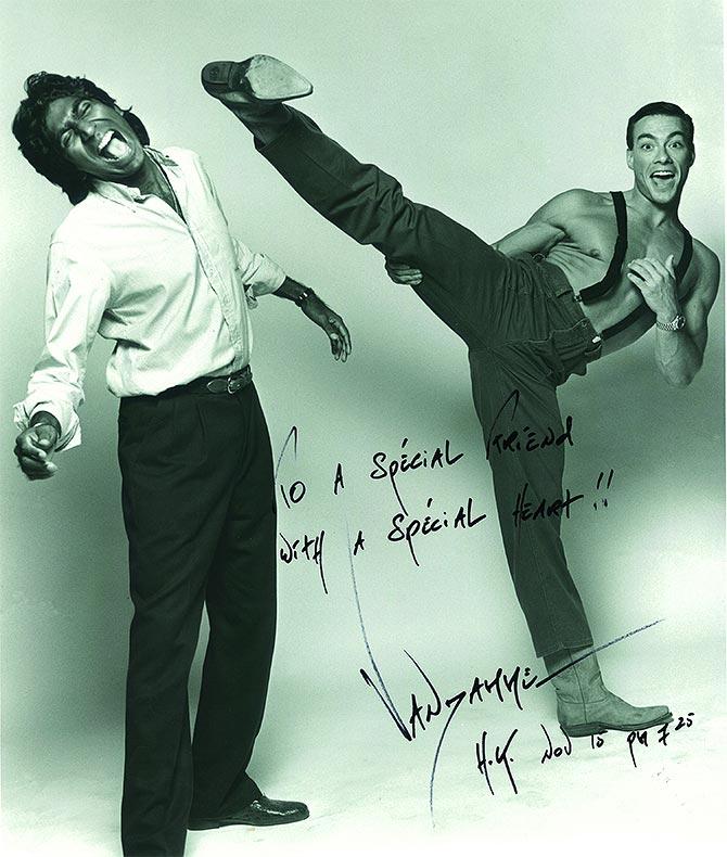 Ashok Amritraj and  Jean Claude Van Damme