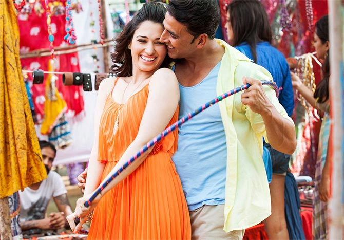 Tamannah and Akshay Kumar in It's Entertainment