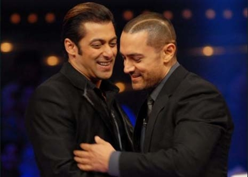 Salman Khan with Aamir Khan
