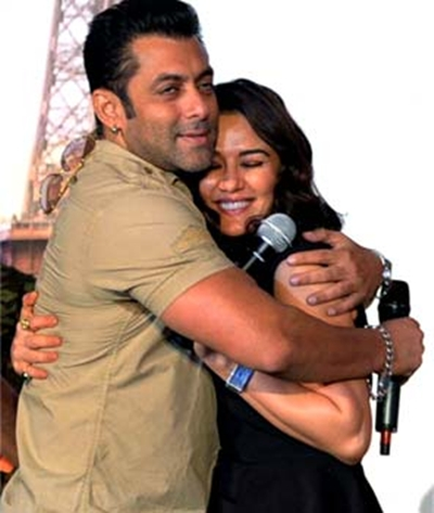 Salman Khan with Preity Zinta