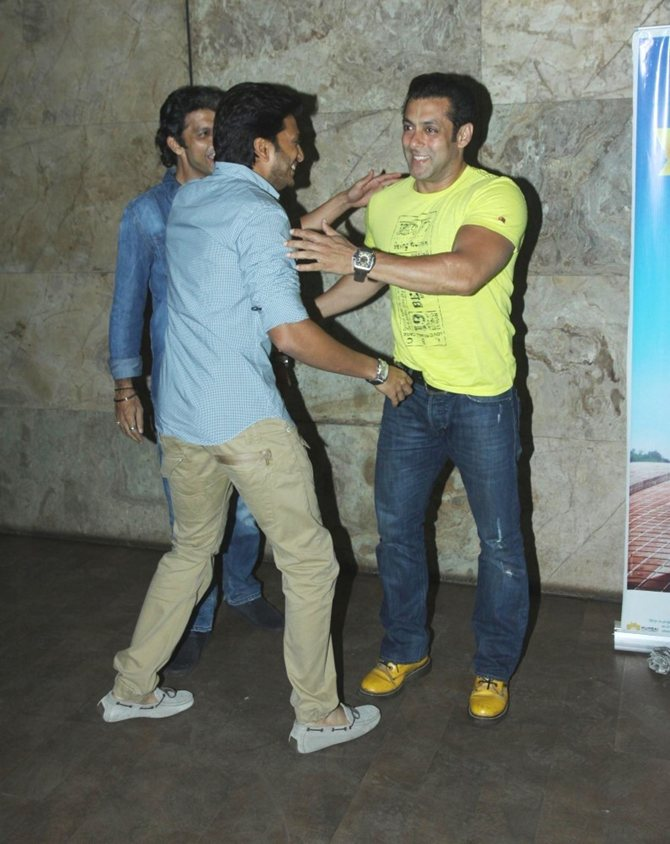 Salman Khan with Riteish Deshmukh