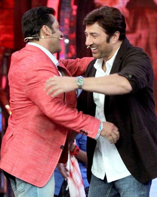 Salman Khan with Sunny Deol