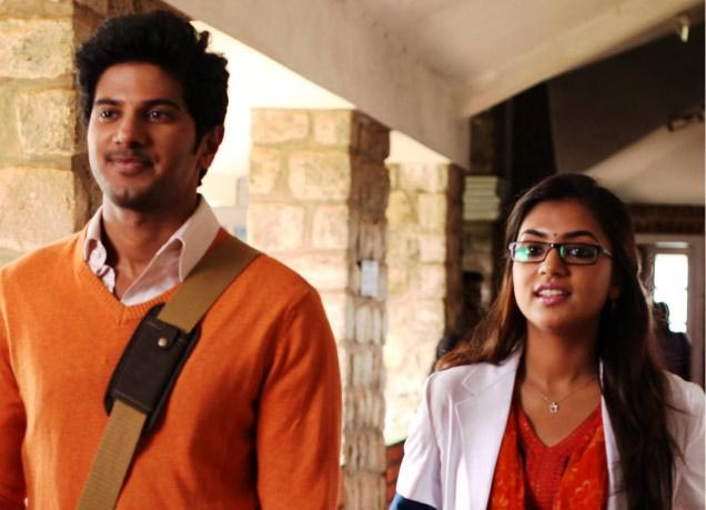 Dulquer Salman and Nazriya Nazim in Vaayai Moodi Pesavum