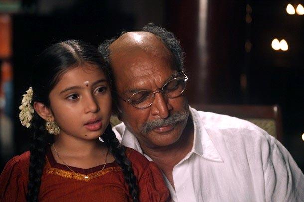 Baby Sara Arjun and Nassar in Saivam