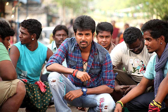 A still from Maan Karate