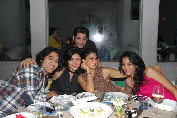 Ruslaan Mumtaaz with Sonal Sehgal and Jacqueline Fernandez