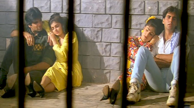 Suniel Shetty, Mamta Kulkarni, Ayesha Jhulka and Akshay Kumar in Waqt Hamara Hai