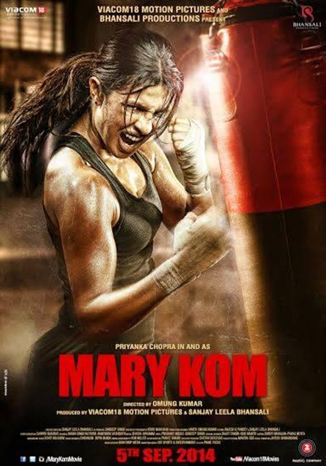 Movie poster of Mary Kom