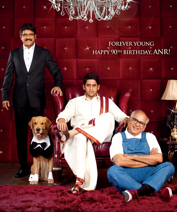 ANR, Nagarjuna, Naga Chaitanya in the poster of Manam