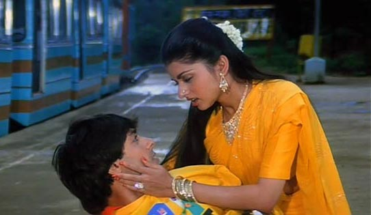 Salman Khan and Bhagyashree in Maine Pyar Kiya